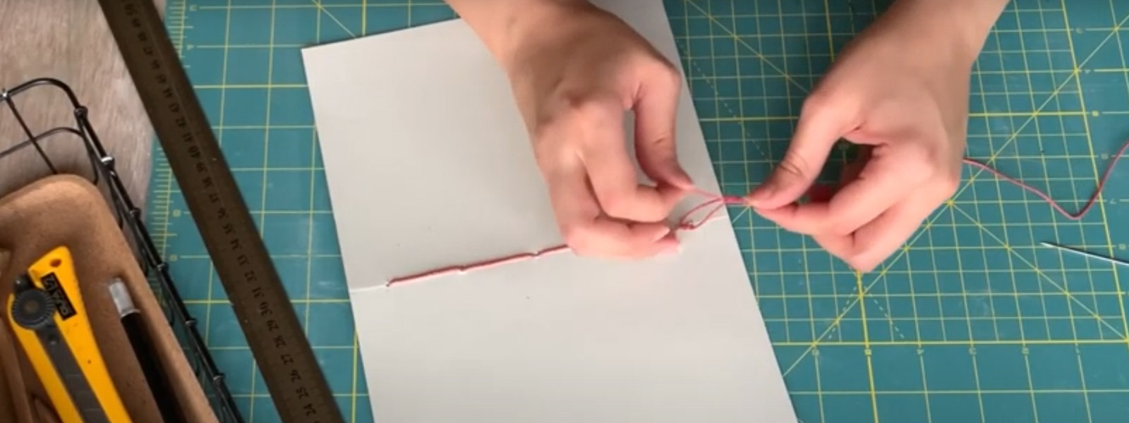 Tutorials - Bookbinding Tutorial: Saddle Stitch and Coptic Stitch