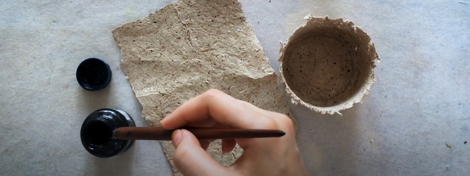 Tutorials - Papermaking from compost materials