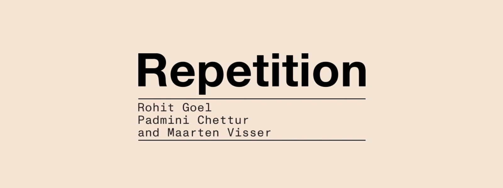 Short Courses - Repetition: Theoretical Explorations Module VIII